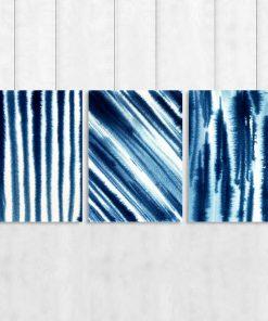 Abstrakcyjny komplet trzech plakatów