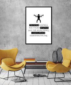 Motywacyjny plakat do siłowni