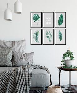 Zestaw plakatów tropikalnych do salonu