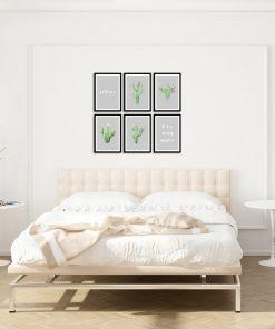Komplet sześciu plakatów do dekoracji sypialni