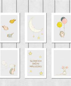 Galeria sześciu plakatów dziecięcych