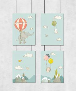Plakaty w zestawie z motywem zwierząt
