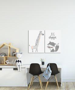 Plakat dyptyk do pokoju dziecięcego