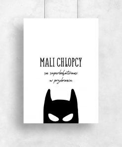 Plakat z Batmanem do pokoju dziecięcego