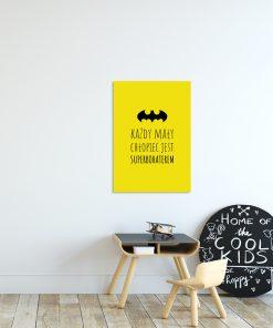 Żółty plakat do pokoju dziecięcego