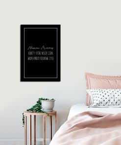 Plakat czarny do sypialni