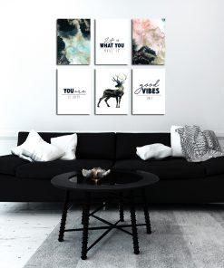 Komplet plakatów do salonu
