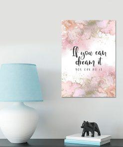 Plakat motywacyjny na ścianę do salonu