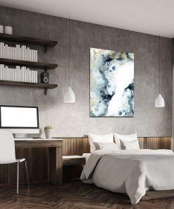 Granatowy plakat do sypialni