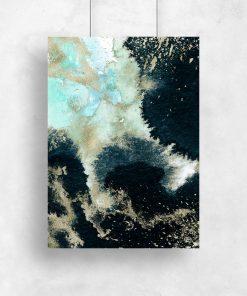 Plakat z akwarelową abstrakcją