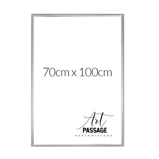 rama srebrna do plakatów 70x100