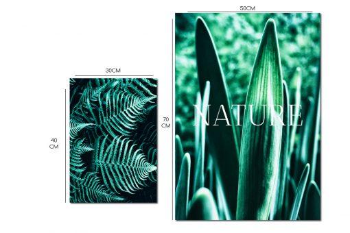 Komplet dwóch plakatów z motywem liści