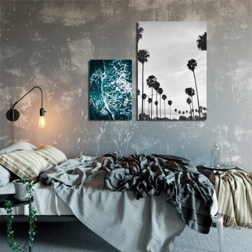 Dwa plakaty z wakacyjnym motywem do sypialni