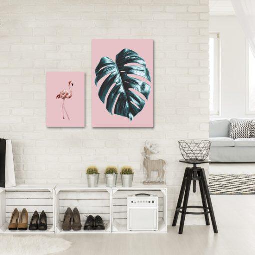 Komplet dwóch plakatów tropikalnych do przedpokoju