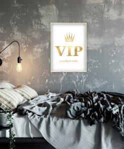 Plakat z efektem lustra do sypialni