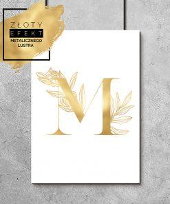 plakaty ze złota folią