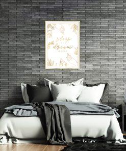 Lustrzany plakat do ozdoby sypialni