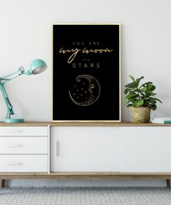 Metaliczny plakat do ozdoby salonu