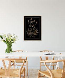 Czarny plakat ze złotym nadrukiem do kuchni