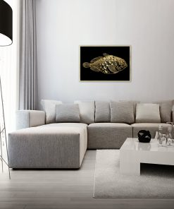Plakat z motywem ryby do salonu