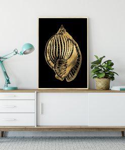 Plakat z metalicznym efektem do salonu