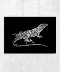 plakaty z jaszczurką