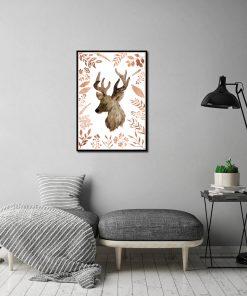Metaliczny plakat na ścianę do salonu