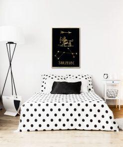 Plakat metaliczny do sypialni