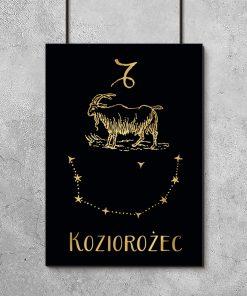 Plakat w kolorze czarno-złotym