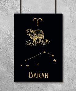 Czarno-złoty plakat do sypialni
