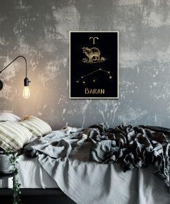 Pozłacany plakat do sypialni
