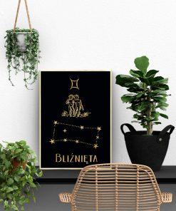 Czarno-złoty plakat do biura