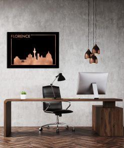Lustrzany plakat w kolorze miedzi do biura