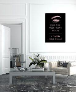 Plakat lustrzany do salonu kosmetycznego