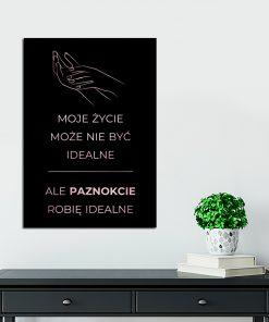 Lustrzany plakat do salonu piękności