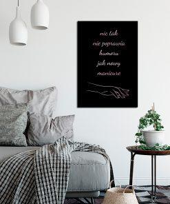 Plakat do dekoracji salonu kosmetycznego