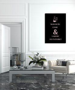 Metaliczny plakat do salonu kosmetycznego