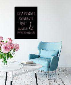 Plakat w kolorze różowego złota dla kosmetyczek