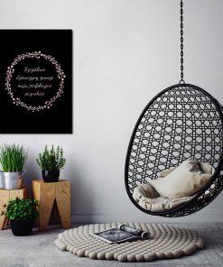 Metaliczny plakat do dekoracji salonu kosmetycznego
