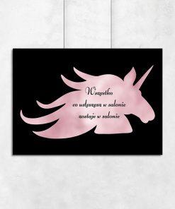 Różowo-złoty plakat dla kosmetyczek