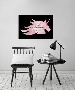 Plakat różowo-złoty do salonu kosmetycznego