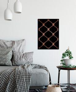 Miedziany plakat na ścianę do salonu