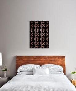 Miedziany plakat na ścianę do sypialni