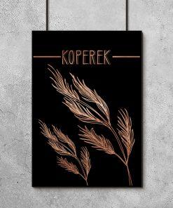 Plakat czarno-miedziany do kuchni