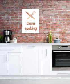 Miedziany plakat na ścianę do kuchni