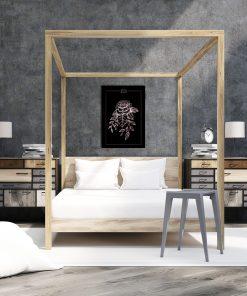 Plakat w kolorze różowego złota do sypialni