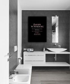 Plakat metaliczny do dekoracji toalety