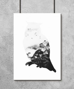 Plakat z motywem skandynawskim