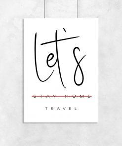 Plakat let's travel