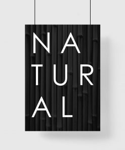 Plakat z hasłem natural